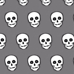 XL Skull White on Gray- remix-2