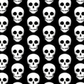 Skull White on Gray-small