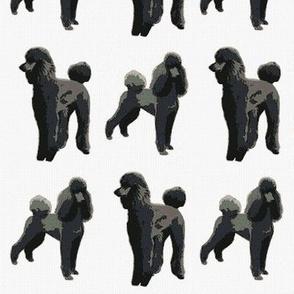 black poodles cross stitch