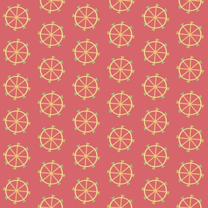Ferris Wheels on Coral Pink