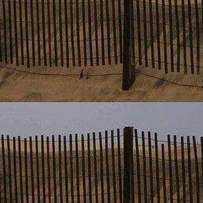 Beach Fence Quilt Border Natural