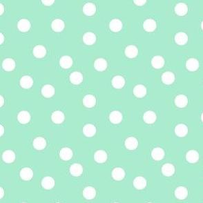 Polka Dots - Pistachio (Small Version) by Andrea Lauren