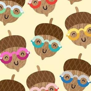 acorns in glasses