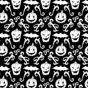 Scribble Goth: Bats and Pumpkins