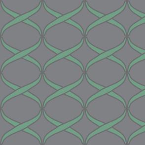 woven light green on grey