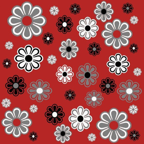 Flower Power Retro in Red