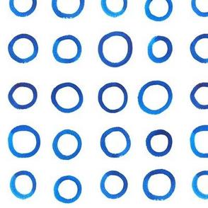Small Blue Watercolor Circles