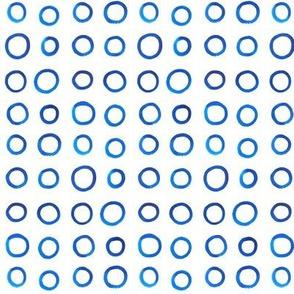 Micro Blue Watercolor Circles