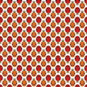 Ladybugs in Red and Orange
