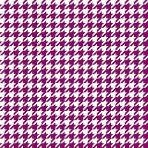 The Houndstooth Check ~ Pompadour Purple