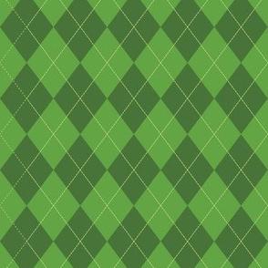 Argyle (green) - 1.5in