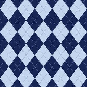 Argyle (blue) - 1.5in