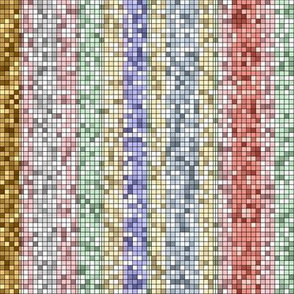 Ice Cream Parlor Stripe ~ Mosaic Tile