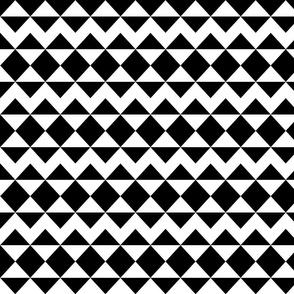 Modernist Argyle ~ Black and White