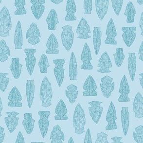 arrowheads in blue