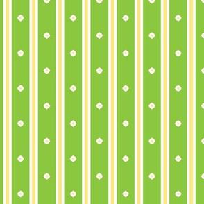 Lime Blossom Stripe