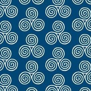 triskelion - navy blue