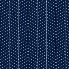Herringbone // Navy