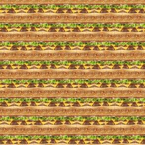 Cheeseburger stripe 1/2 size