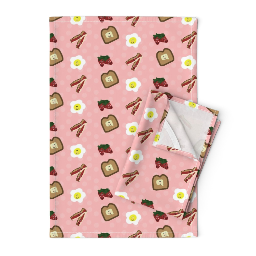 Orpington Tea Towels featuring Berry Happy Breakfast by winter