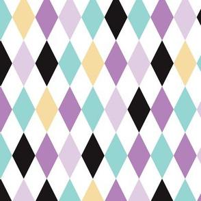 Geometric pastel modern diamond scandinavian abstract pattern