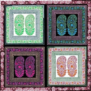paisley flower india quilt