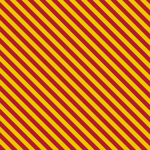 Diagonal Stripes in Red and Golden Yellow - Small