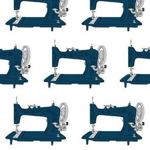 Sew Vintage Sewing Machines in Navy