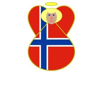 Norwegian_Flag_Angel_Blonde_Hair