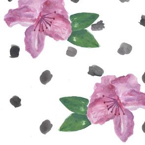 Watercolor Purple Azalea