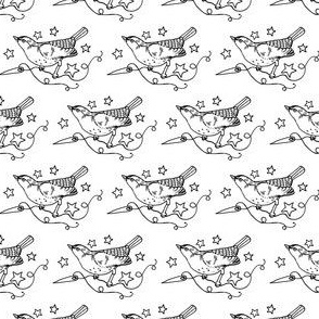 StarSparrows in White