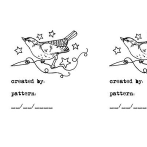 StarSparrow Quilt or Clothing Label
