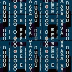 Vowels dark blue