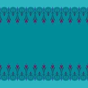 Elsa's Coronation Inspired Horizontal Stripe