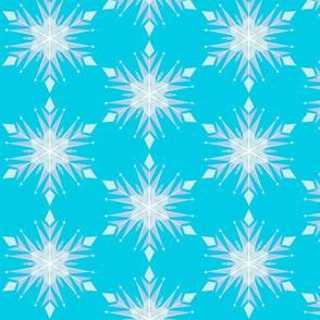 Inspired Elsa LBlue Snow flakes