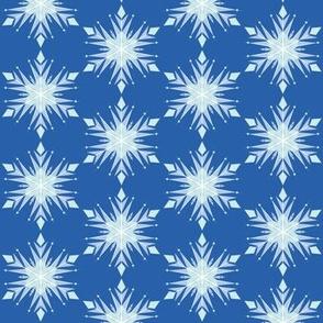 Inspired Elsa Blue Snow flakes