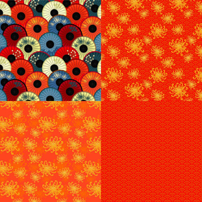 Umbrellievable fat quarters - orange