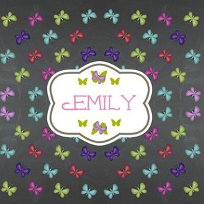 butterfly garden quilt - personalized
