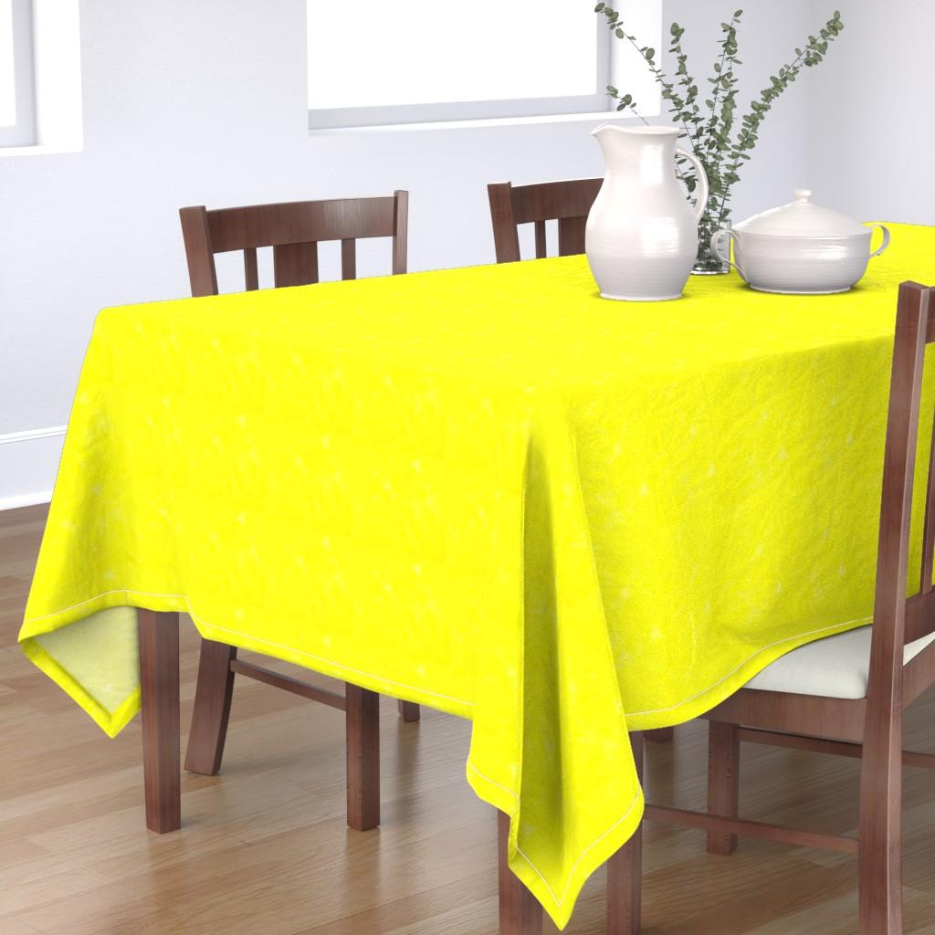 Bantam Rectangular Tablecloth featuring Neon yellow watercolor by daniellereneefalk