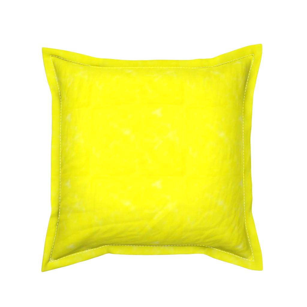 Serama Throw Pillow featuring Neon yellow watercolor by daniellereneefalk