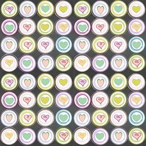 Badge of Hearts -  mini