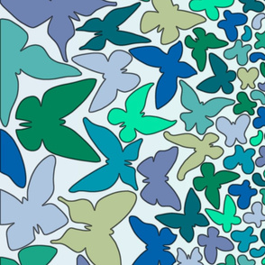 Gradient Butterflies (blue/green)