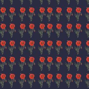 Calico Poppy- Navy