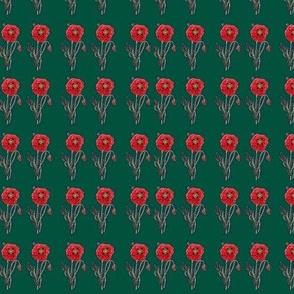 Calico Poppy- green