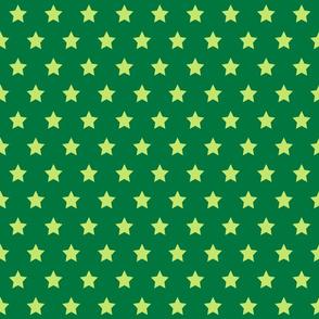 Green on Green Stars - Med