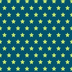 Green Stars on Navy- Small