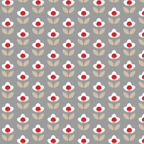 Tulip Grey and red