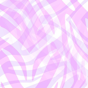 Pink Abstract Zebra