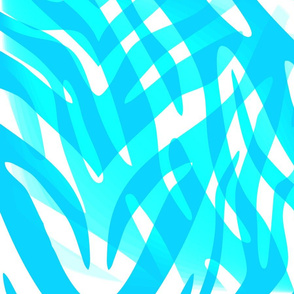 Blue Zebra Abstract