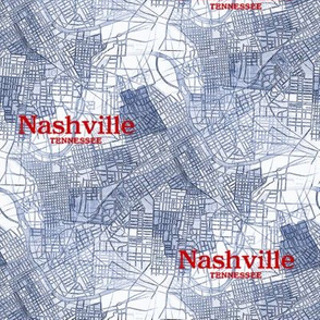 Nashville Map from 1920